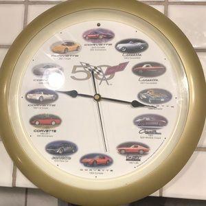 Corvette 2003 50th anniversary clock
